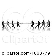Clipart Battle Of Tug Of War Royalty Free Vector Illustration