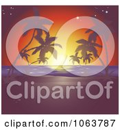 Clipart Sunset Tropical Horizon Royalty Free Vector Illustration