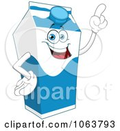 Clipart Smart Milk Carton Royalty Free Vector Illustration