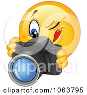 Clipart Photographer Emoticon Royalty Free Vector Illustration