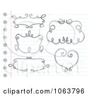 Clipart Sketched Frames On Paper Digital Collage Royalty Free Vector Illustration by yayayoyo