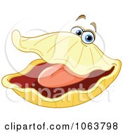 Clipart Happy Oyster Royalty Free Vector Illustration
