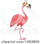 Happy Pink Flamingo