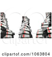 Clipart 3d Messy Stacked Archival Ring Binders Royalty Free CGI Illustration by stockillustrations