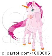 Clipart Pink Sparkly Unicorn Royalty Free Vector Illustration