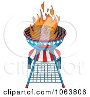 Clipart American Fourth Of July Bbq Royalty Free Vector Illustration by Pushkin