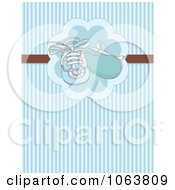 Clipart Blue Baby Shoes And Stripes Background Royalty Free Vector Illustration by Pushkin