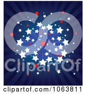 Clipart American Ray And Starburst Background Royalty Free Vector Illustration