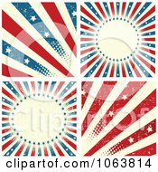 Clipart Grungy American Backgrounds Royalty Free Vector Illustration