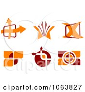 Clipart Abstract Design Element Logos Digital Collage 1 Royalty Free Vector Illustration