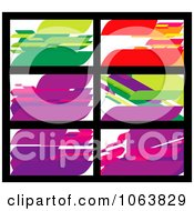 Clipart Abstract Business Card Backgrounds Digital Collage 3 Royalty Free Vector Illustration by Vector Tradition SM