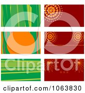 Clipart Abstract Business Card Backgrounds Digital Collage 1 Royalty Free Vector Illustration by Vector Tradition SM