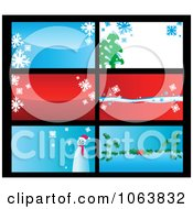 Clipart Christmas Business Cards Backgrounds 2 Royalty Free Vector Illustration by Vector Tradition SM
