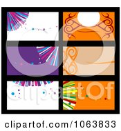 Clipart Abstract Business Card Backgrounds Digital Collage 2 Royalty Free Vector Illustration by Vector Tradition SM