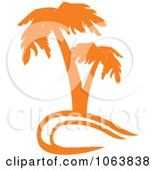 Clipart Orange Palm Tree Logo 2 Royalty Free Vector Illustration by Vector Tradition SM