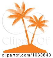 Clipart Orange Palm Tree Logo 4 Royalty Free Vector Illustration by Vector Tradition SM