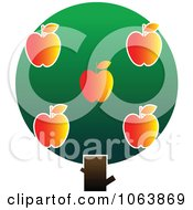 Clipart Apple Tree Logo 3 Royalty Free Vector Illustration
