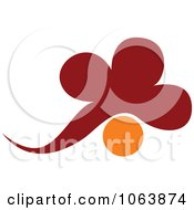 Clipart Cloud And Sun Logo Royalty Free Vector Illustration