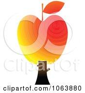 Clipart Apple Tree Logo 4 Royalty Free Vector Illustration