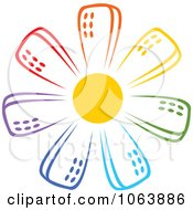 Clipart Colorful Skyscraper Logo 2 Royalty Free Vector Illustration