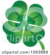 Clipart Four Leaf Clover Royalty Free Vector Illustration by Vector Tradition SM