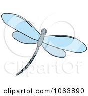 Clipart Blue Dragonfly Royalty Free Vector Illustration by Vector Tradition SM