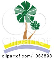 Clipart Palm Tree Logo 1 Royalty Free Vector Illustration by Vector Tradition SM