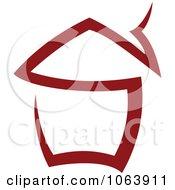Clipart Maroon House 2 Royalty Free Vector Illustration