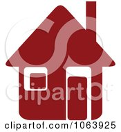Clipart Maroon House 9 Royalty Free Vector Illustration
