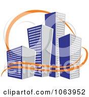 Clipart Blue Skyscraper Logo 46 Royalty Free Vector Illustration