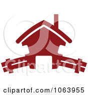 Clipart Maroon House 6 Royalty Free Vector Illustration
