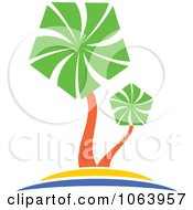 Clipart Palm Tree Logo 3 Royalty Free Vector Illustration by Vector Tradition SM