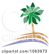 Clipart Palm Tree Logo 6 Royalty Free Vector Illustration by Vector Tradition SM