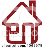 Clipart Maroon House 8 Royalty Free Vector Illustration