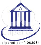 Clipart Court House Logo Royalty Free Vector Illustration
