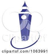 Clipart Clock Tower Logo Royalty Free Vector Illustration