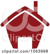 Clipart Maroon House 5 Royalty Free Vector Illustration