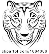 Clipart Tribal Tiger Face Royalty Free Vector Illustration by Vector Tradition SM