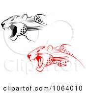Clipart Jaguars Attacking Digital Collage Royalty Free Vector Illustration