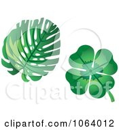 Clipart Leaves Digital Collage Royalty Free Vector Illustration by Vector Tradition SM