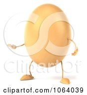 Clipart 3d Egg Character Gesturing Royalty Free CGI Illustration by Julos