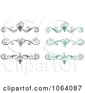 Clipart Grapevine Dividers Digital Collage Royalty Free Vector Illustration by Vector Tradition SM