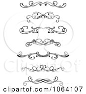 Clipart Black And White Rules Digital Collage 4 Royalty Free Vector Illustration