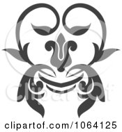 Clipart Gray Flourish Design Element 13 Royalty Free Vector Illustration