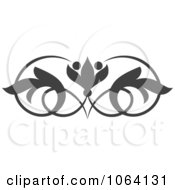 Clipart Gray Flourish Design Element 11 Royalty Free Vector Illustration