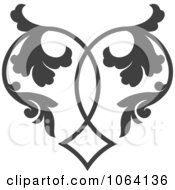 Clipart Gray Flourish Design Element 9 Royalty Free Vector Illustration