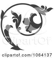 Clipart Gray Flourish Design Element 7 Royalty Free Vector Illustration