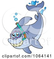 Clipart Snorkeling Shark Royalty Free Vector Illustration