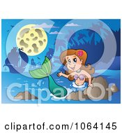 Clipart Friendly Mermaid Waving 1 Royalty Free Vector Illustration by visekart
