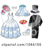 Clipart Wedding Items Royalty Free Vector Illustration by visekart